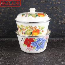 加厚洗de碗盖碗盖盆si怀旧老式盆带盖加高盖1大汤碗中国大陆