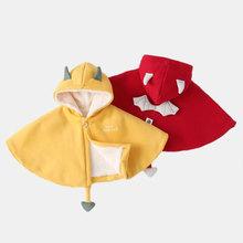 韩国代购婴儿de3风斗篷秋ap儿外套春季加厚加绒款男宝宝披肩
