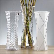 花瓶富贵竹中大号玻璃透明de9合水培简ik角客厅桌面插花花瓶