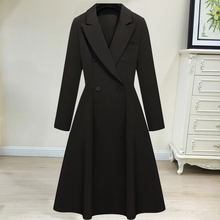 特大码连衣裙女df4妹妹中长kw款宽松显瘦西装风衣外套200斤
