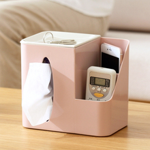 创意客厅桌dg纸巾盒多功di器收纳盒茶几擦手抽纸盒家用卷纸筒