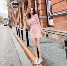 连衣裙di021新式de子女生秋冬季搭配150xs裙子145矮显高毛衣裙