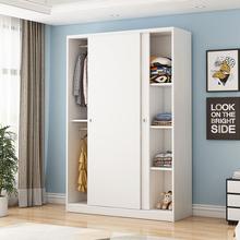 衣柜现di简约经济型de木板式宿舍出租房宝宝简易衣橱卧室柜子