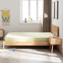 北欧实木床日款主卧1.5m1.8di13双的床de寓民宿家具橡木床
