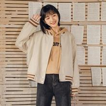 春季短式外套女装2020新式韩款di13松百搭de夹克棉服上衣