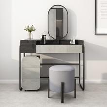 原创北diins风带de能现代简约卧室收纳柜一体化妆桌子