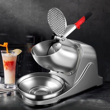 商用刨di机碎冰大功uo机全自动电动冰沙机(小)型雪花机奶茶茶饮