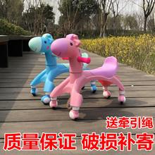 卡通儿di音乐溜溜车hu行静音扭扭车1-3岁无脚踏平衡玩具车