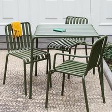 丹麦花di户外铁艺长on合阳台庭院咖啡厅休闲椅茶几凳子奶茶桌