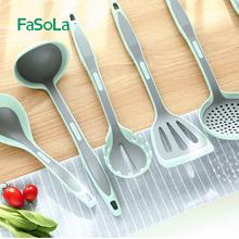 日本食di级硅胶铲子en专用炒菜汤勺子厨房耐高温厨具套装