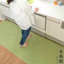 日本进di厨房地垫防en家用可擦防水地毯浴室脚垫子宝宝