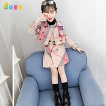 女童风衣加厚2020新式春di10款套装ce秋冬连衣裙时髦两件套