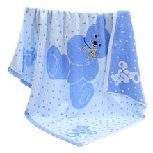 婴幼儿dl棉大浴巾宝l7形毛巾被宝宝抱被加厚盖毯 超柔软吸水
