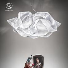 意大利dm计师进口客fa北欧创意时尚餐厅书房卧室白色简约吊灯