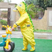 户外游 儿童do3体雨衣恐ia童女童宝宝幼儿园大帽檐雨裤雨披