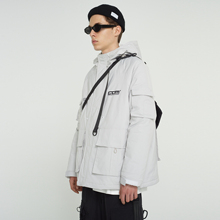 FPAdoVENGEexE)冬季加厚棉服 国潮牌羽绒棉衣棉袄冬装男夹克外套