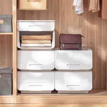 日本翻do收纳箱家用li整理箱塑料叠加衣物玩具整理盒子储物箱