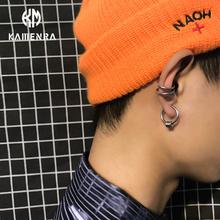韩国潮do无耳洞圈圈ot环钛钢嘻哈耳骨夹男女情侣耳钉耳环