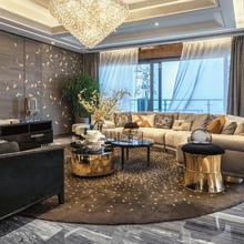 进口羊do地毯定制手re厅卧室满铺毯简约现代办公室样板间异形