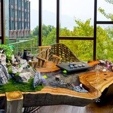 香樟木do观茶台禅意a2水养鱼茶桌椅组合实木中式整体根雕茶。