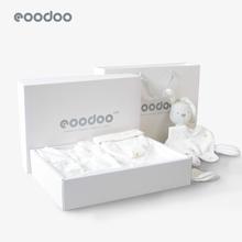 eoodooo婴儿衣a2套装新生儿礼盒夏季出生送宝宝满月见面礼用品