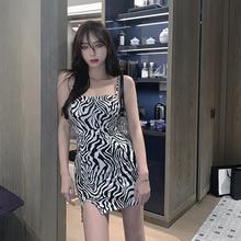 阿乔bdobyjojst马纹吊带连衣裙女春夏装2020年新式性感包臀短裙