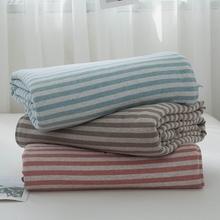 日式全do针织棉空调st棉夏凉被四件套双的学生纯棉单的薄被子