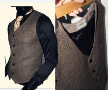 原创春dp羊毛的字呢uw古马夹大码西装马甲男修身型工作服定制