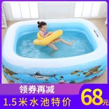 夏季婴dp宝宝家用游lw孩(小)游泳池(小)型折叠充气加厚宝宝戏水池