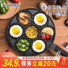 煎鸡蛋dq宝宝辅食锅mg不粘锅多功能七孔煎锅煎饼早餐煎蛋神器