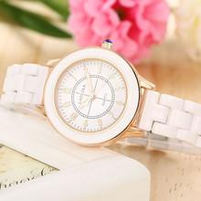 女生腕dq新式白色陶rq防水简约数字时尚气质百搭韩款女士手表