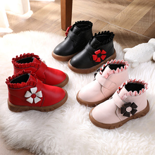 女宝宝dr-3岁雪地am20冬季新式女童公主低筒短靴女孩加绒二棉鞋