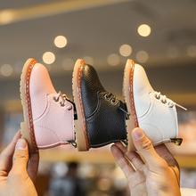 宝宝婴dr学步鞋软底hr-3一岁2男女童马丁靴(小)孩加绒棉鞋秋冬季式