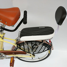 自行车du背坐垫带扶sa垫可载的通用加厚(小)孩宝宝座椅靠背货架