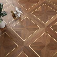 积加拼du地板实木复un桃铜环保健康适用地暖客厅卧室书房走廊