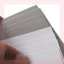 特硬纸板白色面diy手工du9的厚a3eo垫板绘画大纸片写字(小)学生