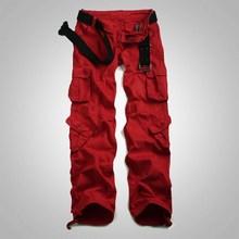 时尚宽松hdu2phipdu工装裤迷彩裤多口袋直筒休闲长裤大码军裤
