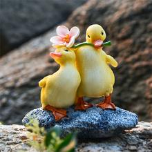 可爱鸭du摆件创意树du动物微景观多肉水培盆花园水池造景装饰