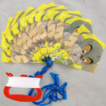 串风筝du型长串PEai纸宝宝风筝子的成的十个一串包邮卡通玩具