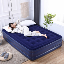 舒士奇du充气床双的ng的双层床垫折叠旅行加厚户外便携气垫床