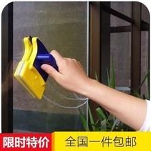 刮玻加du刷玻璃清洁ka专业双面擦保洁神器单面