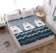 法兰绒du季学生宿舍ty垫被褥子1.5m榻榻米1.8米折叠保暖