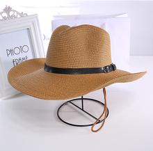 可折叠du侣式沙滩帽ci仔钓鱼帽大沿帽夏天遮阳帽子男士礼帽
