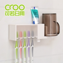 日式粘dw式牙刷架牙gs拆卸牙刷收纳架漱口杯架贴壁收纳