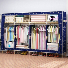 宿舍拼dx简单家用出rb孩清新简易布衣柜单的隔层少女房间卧室