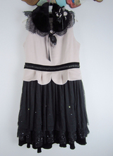 Pindy Maryww玛�P/丽 秋冬蕾丝拼接羊毛连衣裙女 标齐无针织衫