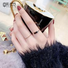 韩京欧dz潮的混搭组rg女气质时尚个性ins网红食指环戒子