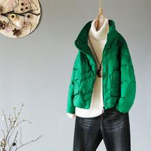 2020冬季dz品文艺宽松rg士羽绒服韩款百搭显瘦加厚白鸭绒外套