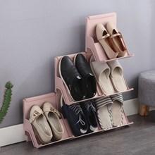 日式多ea简易鞋架经hd用靠墙式塑料鞋子收纳架宿舍门口鞋柜
