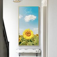 北欧现代向ea2葵玄关装lm客厅走廊过道挂画简约壁画太阳花